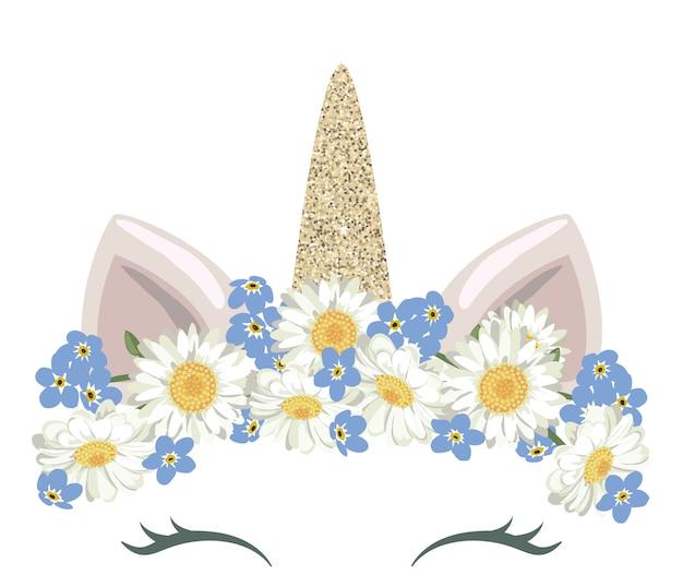 Personaggio simpatico cartone animato unicorno
