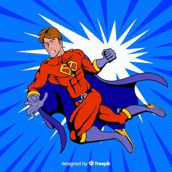 Personaggio supereroe con stile pop art