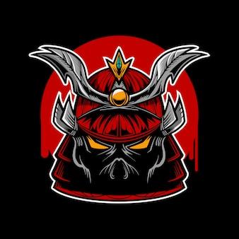 Personaggio testa di samurai