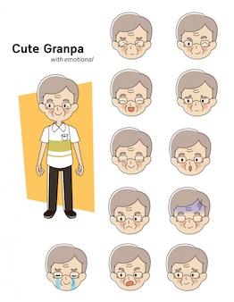Personaggio uomo anziano