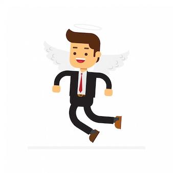 Personaggio uomo d'affari angelo