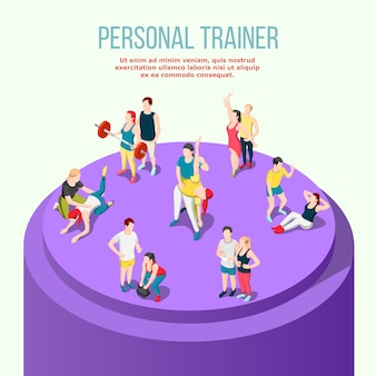 Personal trainer isometric