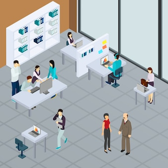 Personale in ufficio durante il lavoro