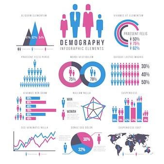 Persone, adulti e bambini, umani, persone, famiglia infografica vettoriale segni e grafici