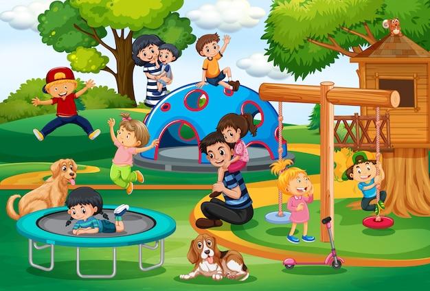 Persone al parco giochi