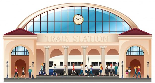 Persone alla stazione ferroviaria