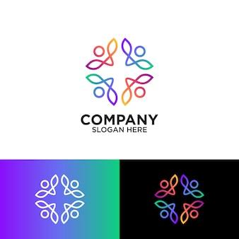Persone astratte per il design del logo della comunità