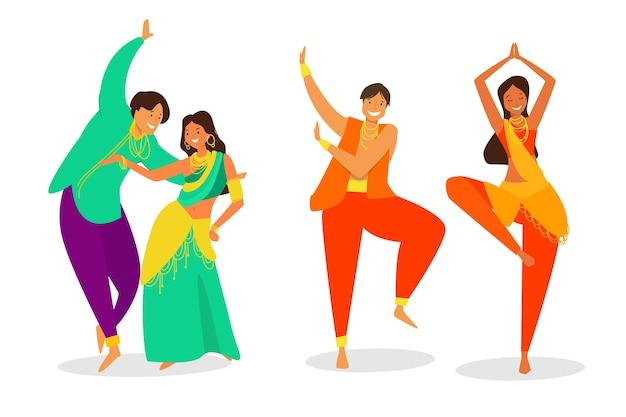 Persone che ballano insieme a bollywood