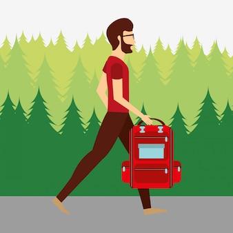 Persone che camminano design