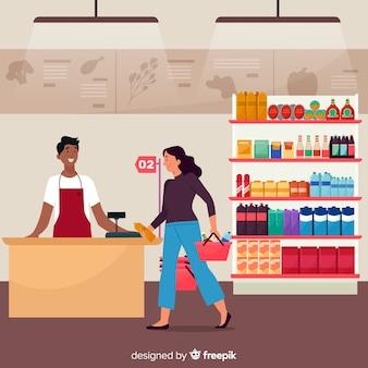 Persone che comprano al supermercato