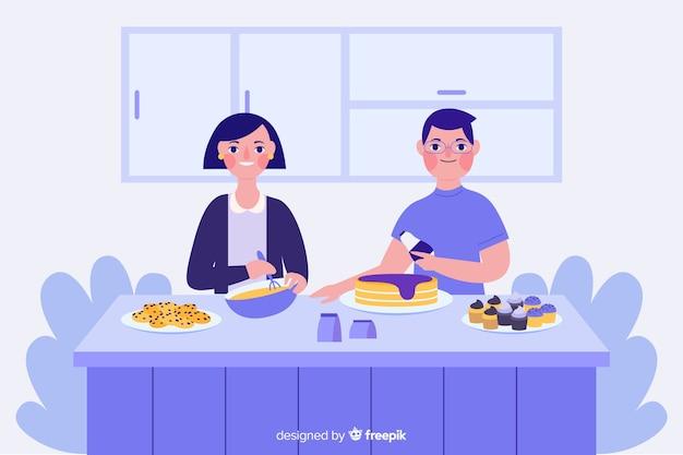 Persone che cucinano