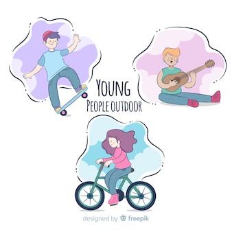 Persone che fanno attività all'aperto