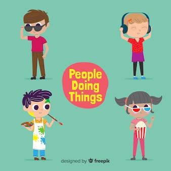 Persone che fanno cose
