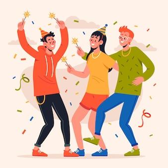 Persone che festeggiano insieme