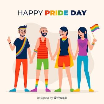 Persone che festeggiano la giornata dell'orgoglio