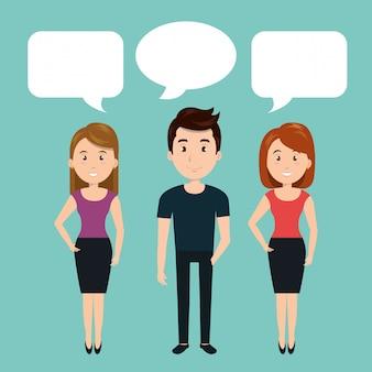 Persone che parlano di comunicazione vocale