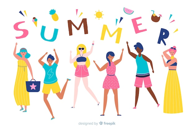 Persone che si godono l'estate