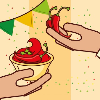 Persone cibo messicano