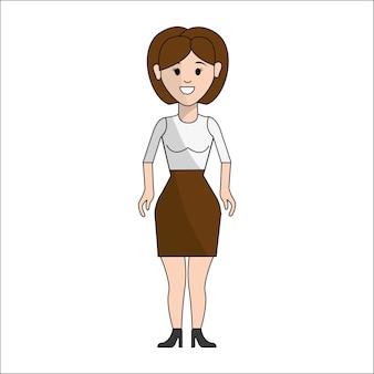 Persone, donna con icona avatar panno casual