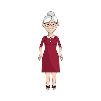 Persone, donna con panno casual con occhiali icona avatar