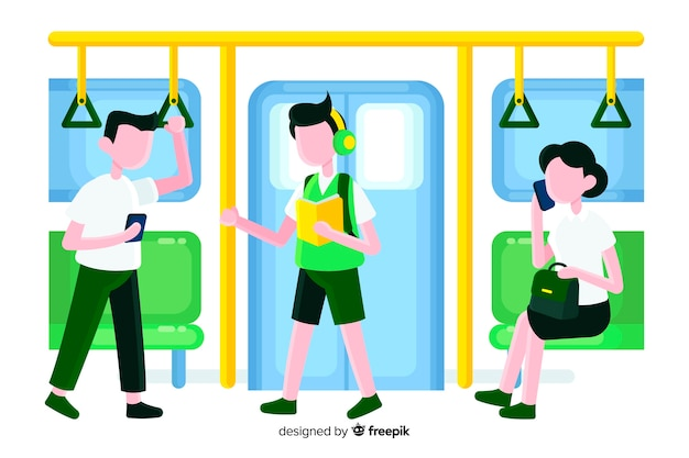 Persone in metropolitana