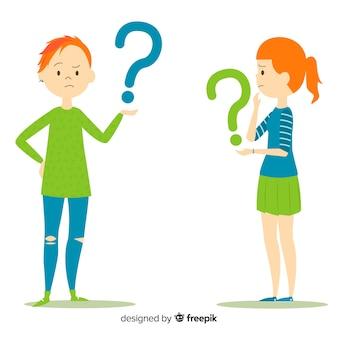 Persone in possesso di punti interrogativi