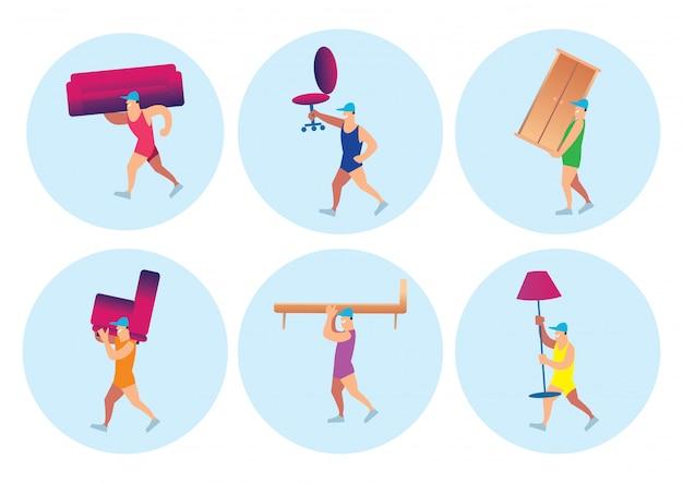 Persone in possesso di set di mobili