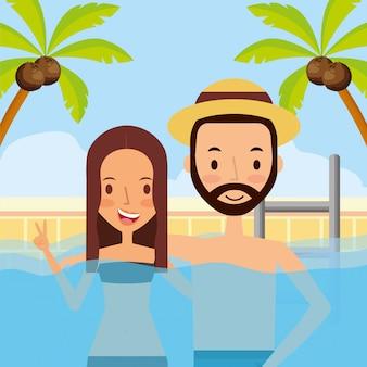 Persone in vacanza d'estate