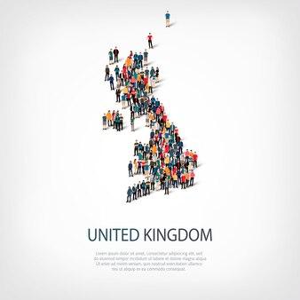 Persone mappa paese regno unito