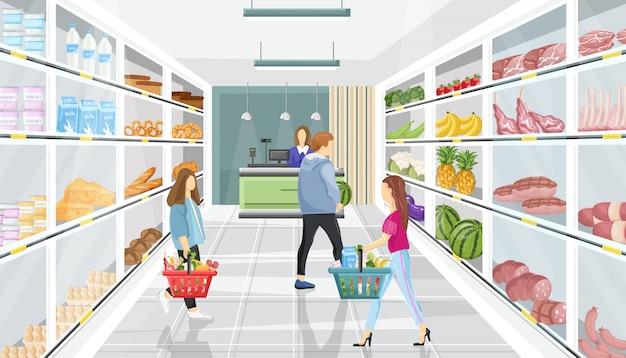 Persone nel negozio del supermercato