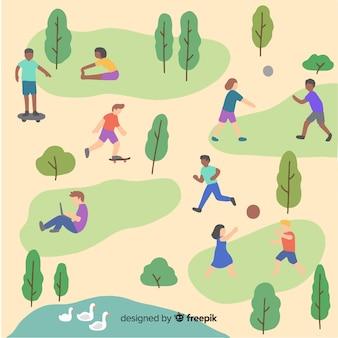 Persone nel parco