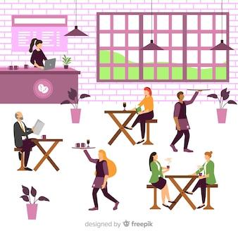 Persone sedute in un caffè