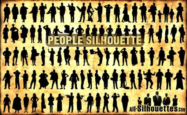 Persone silhouette