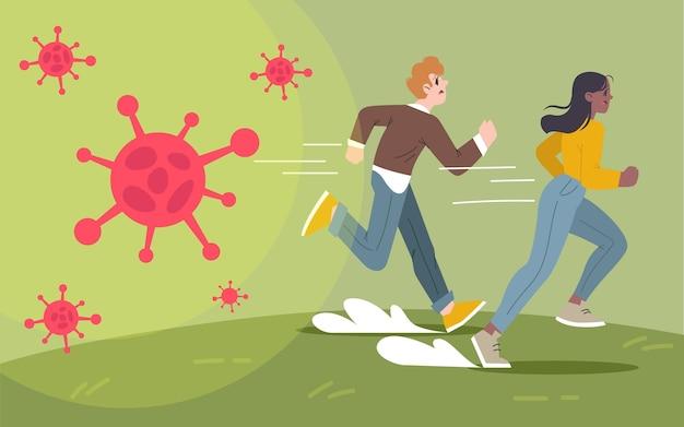 Persone spaventate dal coronavirus