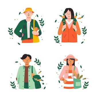 Persone stile di vita verde