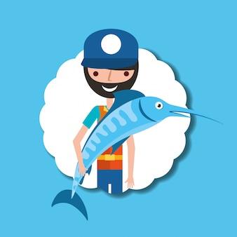 Pescando la gente del fumetto