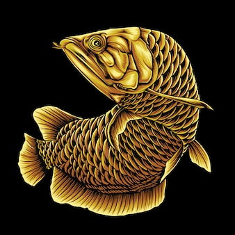 Pesce arowana dorato