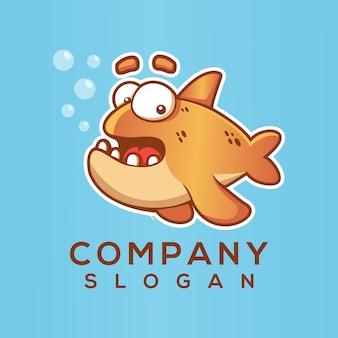 Pesce logo vettoriale