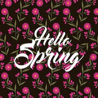 Petali di rosa margherita fiori ciao primavera sfondo nero