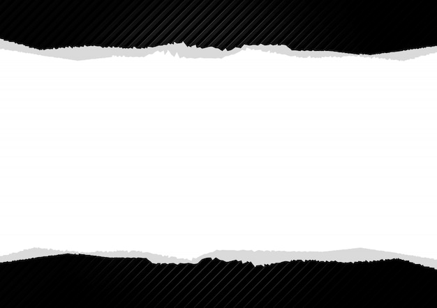 Pezzo di carta strappata su sfondo a righe astratto.