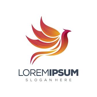 Phoenix logo design illustrazione