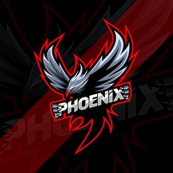 Phoenix mascotte logo esport design