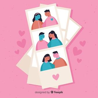Photo booth collezione di coppie di san valentino