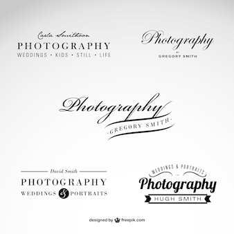 Photography business logo set