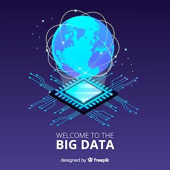 Pianeta sfondo big data