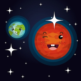 Pianeti solari del sistema di astronomia isolati