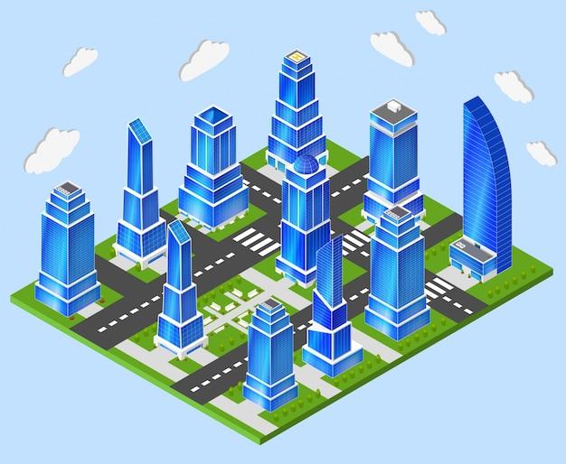 Pianificazione del settore del centro città dell'ufficio