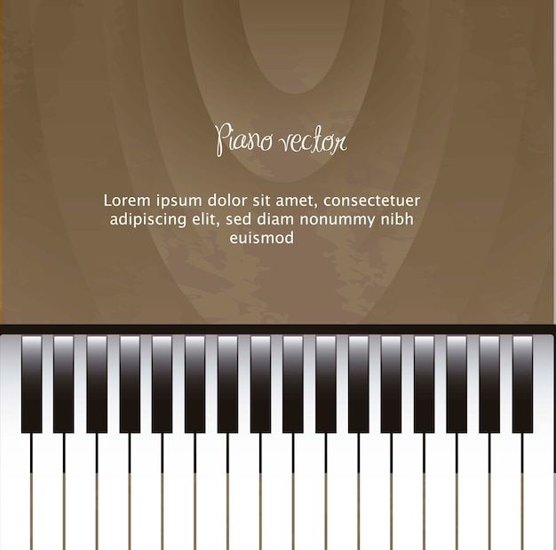 Pianoforte con spazio per la copia con il vettore di texuture in legno