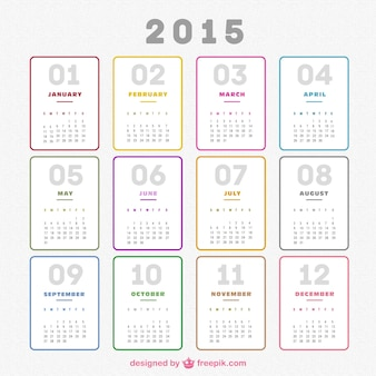 Pianura del calendario 2015