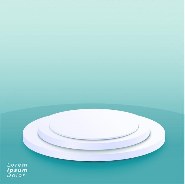 Piattaforma del podio su priorità bassa blu